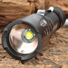 UltraFire 700lm 5-Mode White Zooming Crown Head Flashlight - Black (1 x 18650)