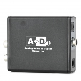 Analog-Audio-to-Digital-Coaxial-Optical-Converter-Black