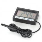 "ST-2 2,0"" LCD Digital Dual Way Vehicle Termometer w / Sensorer / Klocka - Svart (1 x LR44)"