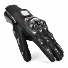 PRO-BIKER Skid-Proof Full Finger Motorcycle Racing Gloves - Black (Pair / M-Size)