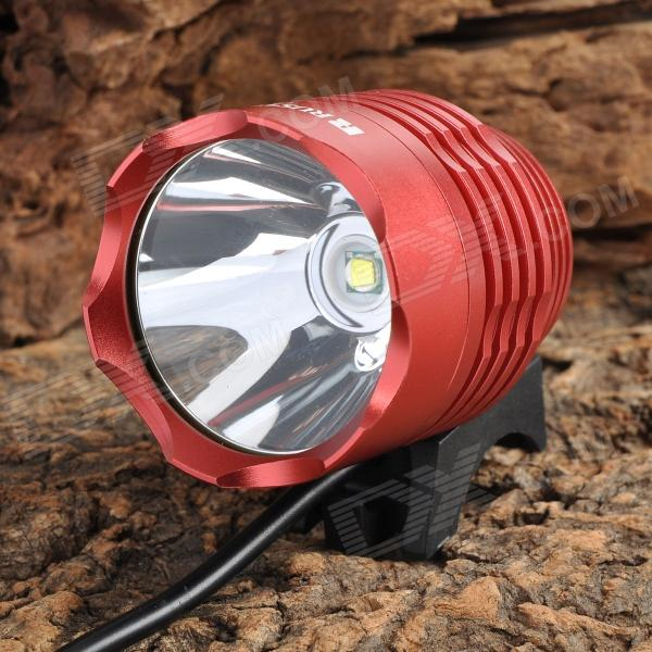 RUSTU D6H 800lm 3-Mode White Light Bicycle Headlamp - Red (4 x 18650)