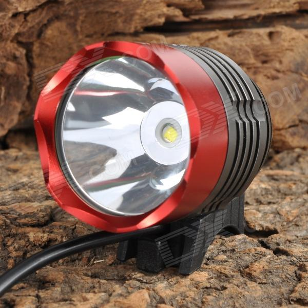SingFire SF-90 4-Mode 1000lm White Bike Headlamp - Red + Deep GreyBike Lights<br>.sku-text{font-size:13px;width:898px;margin:5px 0;font-family:Verdana;}Uses 1 x T6 LED, max. 1000lm outputIncluding 4 x 18650 battery pack, 4hrs runtime300m beam distance4 brightness levelsEasy operation and mountCan work as bike light and headlamp4-Mode white bicycle headlamp1. High2. Mid3. Lower4. Fast strobe5. Headband, suitable for camping, climbing or other night outdoor activities6. Bike mount, suitable for outdoor night riding7. Bicycle light, aluminum alloy, detachable, water resistantWaterproof design, support riding in rainy dayPerfect item for your traveling, hiking, cycling, bicycle riding and other outdoor sports1. Hi, 2. Mid, 3. Lo, 4. Fast strobe<br>