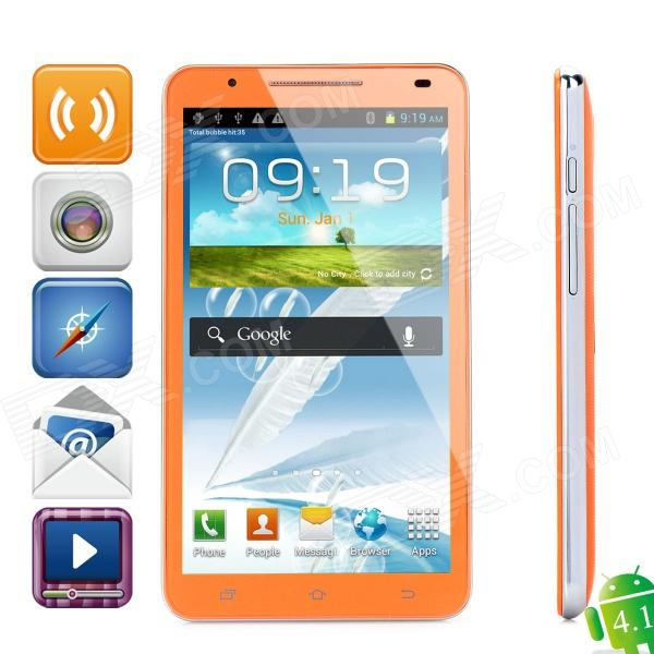 "N9776 Android 4.1 WCDMA Bar Phone w/ 6.0"" Capacitive Screen, GPS, Wi-Fi and Dual-SIM - Orange"
