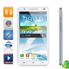 "N9776 Android 4.1 WCDMA Bar Phone w/ 6.0"" Capacitive Screen, GPS, Wi-Fi and Dual-SIM - White"