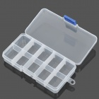 10-Compartment Free Combination Plastic Storage Box for Hardware Tools / Gadgets - Translucent White