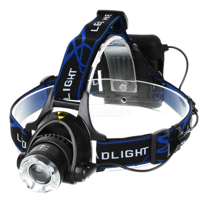 YP-3005 450lm 3-Mode White Zooming Headlamp - Black (4*AA)