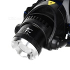 YP-3005 450lm 3-Mode Blanco Zooming faro - Negro (4 * AA)