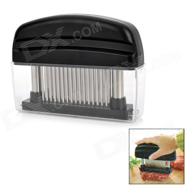 Kitchen Stainless Steel 48 Spikes Meat Tenderizer - Black