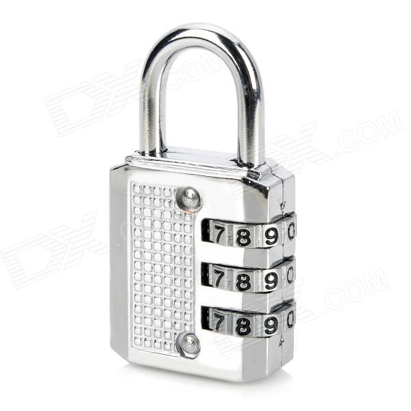 CR-03A Resettable Security 3-Digit Combination Padlock - SilverOther Security Products<br>Model:Form  ColorGoldenMaterial:Power AdapterWithout Power AdapterPacking List<br>