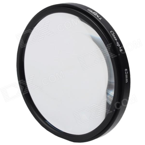 Premium 8X Macro-Effect Camera Lens Close-up Filter (62mm)