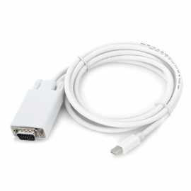 1080p-Thunderbolt-V10-Male-to-VGA-Male-Monitor-Projector-Adapter-Cable-White-(185cm)