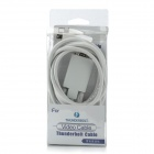 1080p Thunderbolt V1.0 Male to VGA Male Monitor / Projector Adapter Cable - White (185cm)