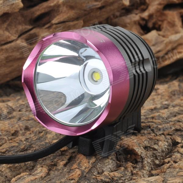 SingFire SF-90 800lm 4-Mode CREE XML T6 White Bicycle Headlamp - Purple (4 x 18650)Bike Lights<br>ModelSFQuantity1ColorBlackForm  ColorWhiteMaterialAluminumEmitter BrandCreeLED TypeXM-LEmitter BINT6Number of Emitters1,2,3,4,5,6,8,9,10Color BINCold White,Purple,WhiteRuntime4Number of Modes1Mode ArrangementHi,Mid,Fast StrobeMode MemoryNoSwitch TypeForward clickyLensGlassReflectorAluminum Smooth,NoFlashlight MountingHandlebar,TailSwitch LocationHead,TailcapBeam RangeAboveCertificationCEPacking List<br>