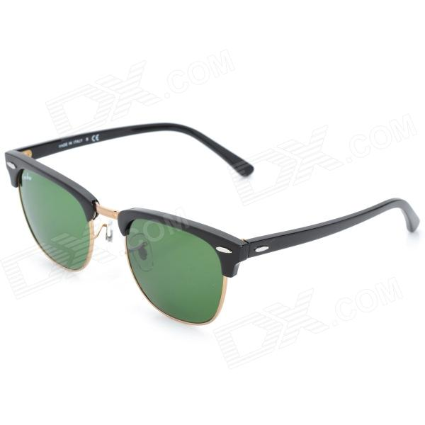 Buy OREKA WG010-901 Retro Cellulose Acetate Frame Sunglasses - Black with Litecoins with Free Shipping on Gipsybee.com