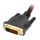 D121104 DVI-D (24+1) Male to Male Digital Video Cable - Black + Red (140cm)