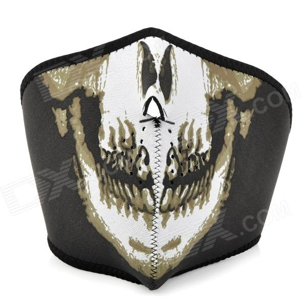 Skull Head Pattern Outdoor Face Mask Shield Guard for Cycling / Mountaineering - Black