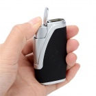Dual Flame Wind Proof Butane Gas Lighter - Silver + Black