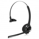 Wireless Bluetooth v2.1 Single Track Headset Headphones w/ 2-Flat-Pin Plug + USB - Black + Silver