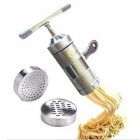 Multi-Function Manual Stainless Steel Noodle Fruit Hand Press Juicer - Silver