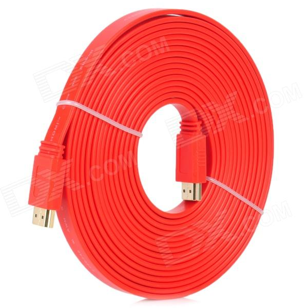 G1205 HDMI V1.4 macho a cable plano macho - rojo (longitud 5M)