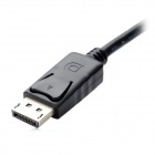 CY DP-006 Hombre DisplayPort DP a hembra HDMI Cable de datos - Negro (10cm)