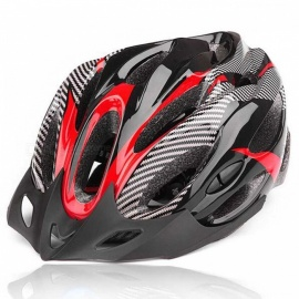 Outdoor-Sports-Cycling-Bike-Bicycle-Helmet-w-Channeled-Vents-Red-2b-Black