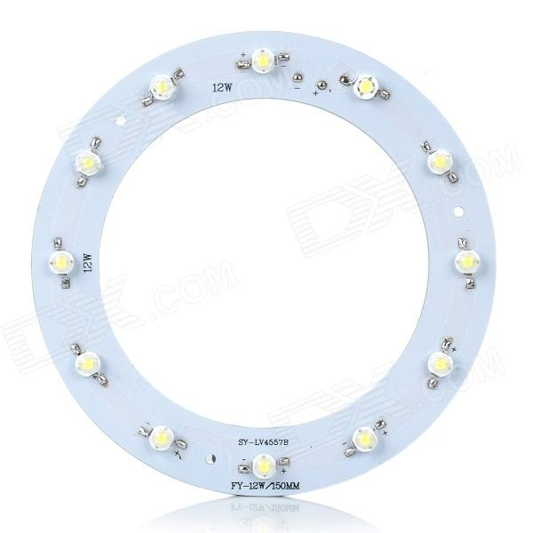 JR-12-1W 12W 12-LED Cold White Light Round Ceiling Lamp Source Module