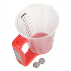 "1.5"" LCD Digital Measuring Cup w/ Scale - Red"