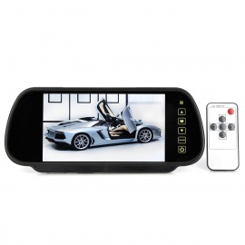2-in-1-Car-7-LCD-Rearview-Mirror-and-Wireless-Camera-Black