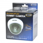 Realistic Looking Dummy Surveillance Security Camera - White (3 x AAA)