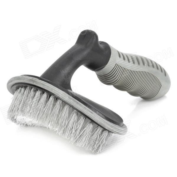 Buy Car Tire Wheel Cleaning Washing Brush Tool - Grey + Black with Litecoins with Free Shipping on Gipsybee.com