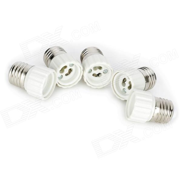 E27 Male to GU10 Female Light Lamp Bulb Adapters Converters - White + Silver (5 PCS)Other Accessories<br>MaterialPlasticColorWhiteForm  ColorWhiteQuantity5EmitterRate Voltage85~265Connector TypeE27,GU10,E2Packing List<br>