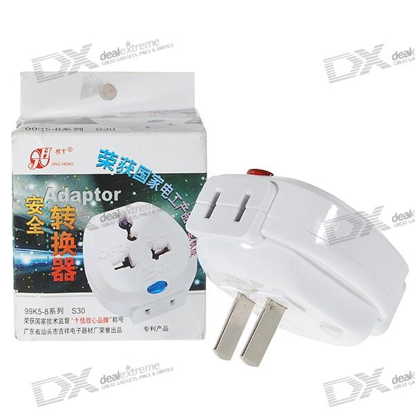 Safe UK to US/China Travel AC Adapter Plug and 3-Way Splitter (250V)