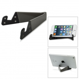Folding Stand Holder Support for IPHONE, Samsung + More - Grey + Black