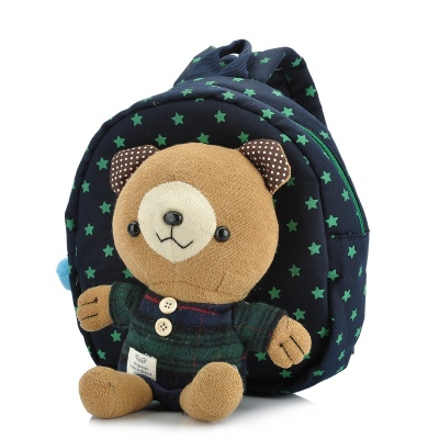 Winghouse Cute Bear Style Anti-Lost Backpack Schoolbag w/ Strap for Kids - Blue
