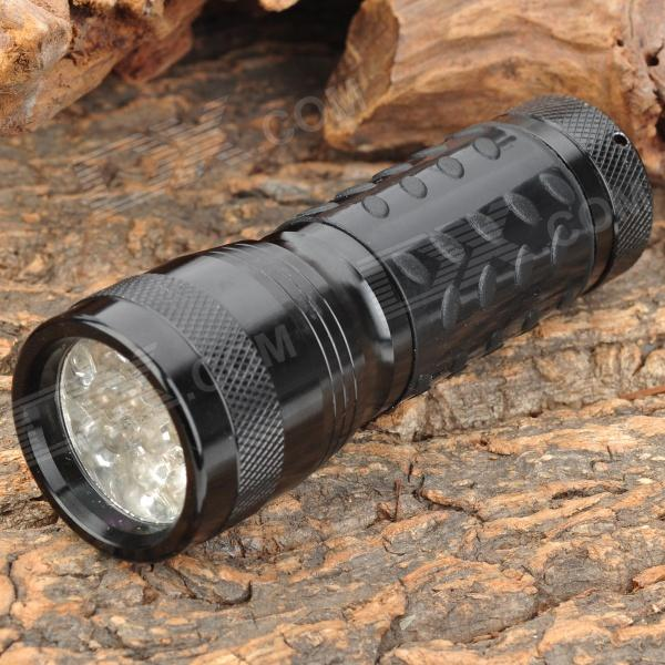 Buy 380~400nm 14-LED Ultraviolet Light UV Flashlight - Black (3*AAA) with Litecoins with Free Shipping on Gipsybee.com