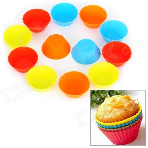 SP99013 Small Round Shape Silicone DIY Mold Tray for Muffin / Cake / Dessert / Chocolate / PuddingFood Molds<br>ModelSP99013Quantity12Form  ColorOrangeQuantity12Other FeaturesSuitablePacking List<br>