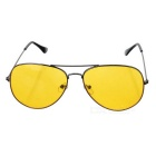 KANO 5672 Polarized Night Vision Driving Glasses - Yellow + Black