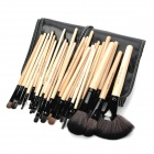 MAKE-UP FOR YOU Portable Professional Cosmetic Makeup Brushes Set – Black + Yellow (32 PCS)