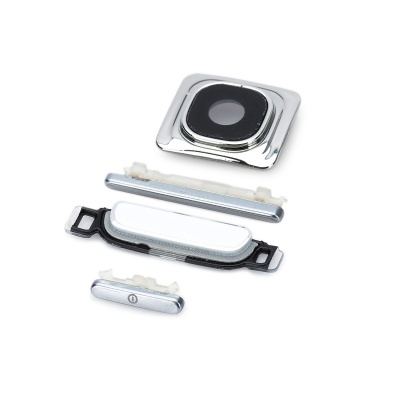 Replacement Power Switch / Volume / Home Button / Lens Cover for Samsung Galaxy S3 i9300 - Silver