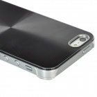 CD Lines Pattern Protective PC Plastic Case for Iphone 5 - Black