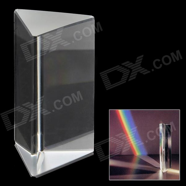 Buy Optical Triple Triangular Glass Prism Spectrum - White with Litecoins with Free Shipping on Gipsybee.com