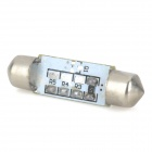 SENCART Festoon 39mm 0.9W 540nm 56lm 3-SMD 5050 LED Reading Ice Blue Lamp / Placa de la lámpara (12V)