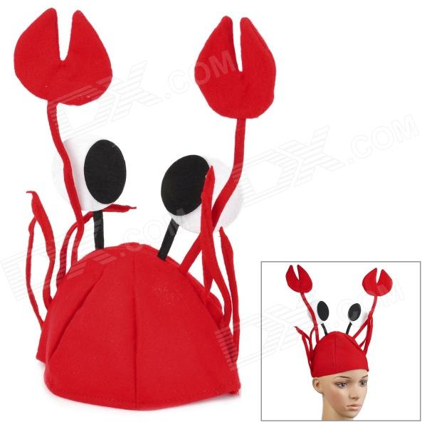 Buy Crab Style Children's Soft Plush Cap - Red with Litecoins with Free Shipping on Gipsybee.com