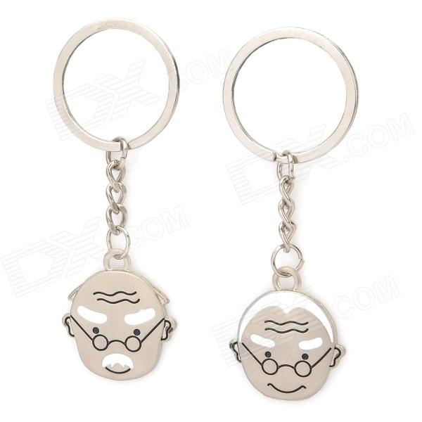 Marriage Blessing Zinc Alloy Keychain - Silver (2 PCS)