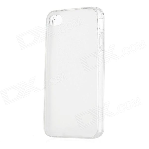 Ultra-Thin Protective Frosted TPU Back Case for Iphone 4 - Translucent White