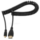 CY HD-110 Micro HMDI samec na HDMI 1.4 Male Retractable Cable - Black