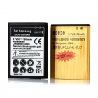 Replacement 1500mAh + 2450mAh Batteries for Samsung Galaxy Ace / S5830 - Black (2 PCS)