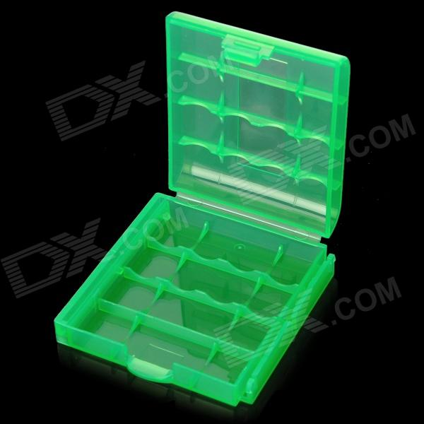 Buy Protective PP Plastic Storage Case for 4 x AA / AAA Batteries - Translucent Green with Litecoins with Free Shipping on Gipsybee.com