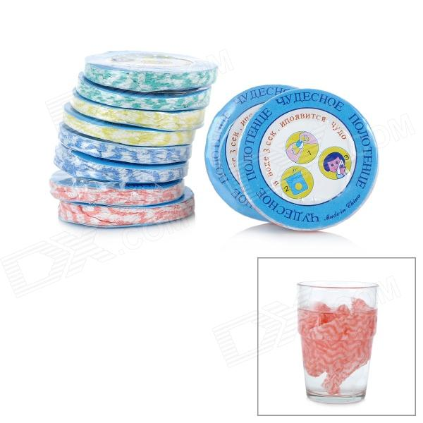 Buy Non-Woven Fabrics Compressed Towel (10 PCS) with Litecoins with Free Shipping on Gipsybee.com